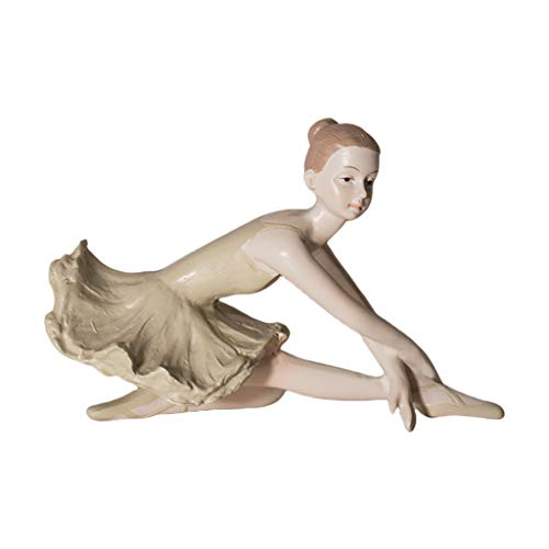 Unkonw Estatua de bailarina de resina de bailarina de ballet Figura de manualidades