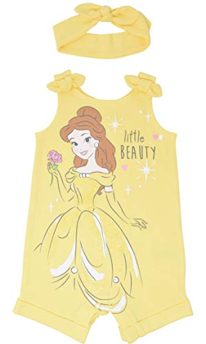 Disney Princess Belle Baby Girls Romper and Headband Bow Set 18 Months