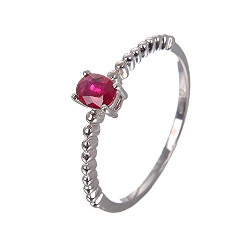 Ubestlove Ladies White Gold Rings Claddagh Rings For Women Oval Ruby Ring Women J 1/2