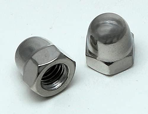Edelstahl Hutmuttern - DIN 1587 Material Edelstahl V2A (Edelstahl V2A, 50 Stück M6)
