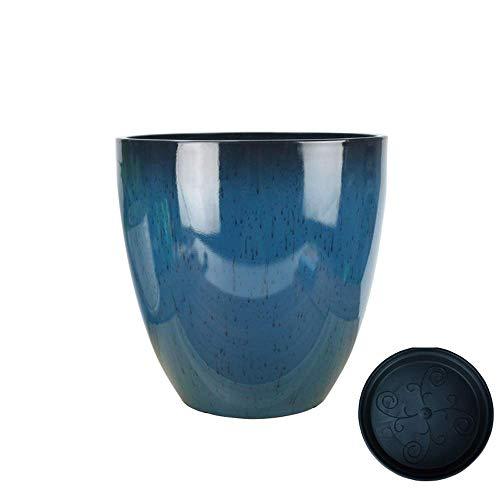 ZTMN Vaso da Fiori carnoso in Resina Retro Pianta Verde Vasi da piantagione di Grande Diametro Creativo Piante Non ceramiche Seminatrice Micro Paesaggio Combinazione Contenitore Decorativo Intern