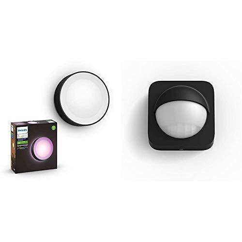 Philips Hue Daylo Aplique Inteligente Exterior LED (IP44), 15 W, Compatible con Alexa y Google Home+Philips Hue Sensor de Movimiento para Exterior, Compatible con Alexa y Google Home