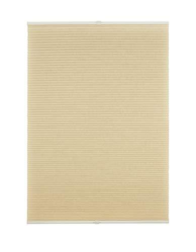 Waben-Plissee Klemmträger ohne Bohren Verdunklung Fenster Klemmfix 100x130 cm Beige