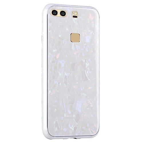 AIsoar Custodia per Huawei P10 Plus Cover + Vetro Temperato Cover Posteriore+Ultra Thin Slim Trasparente TPU Silicone Modello Custodia Antiurto AntiGraffio Brillante Shell Rosso (White)