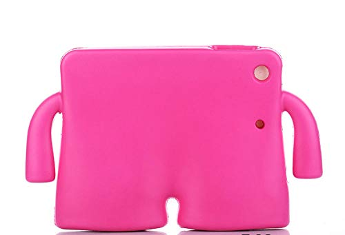 Tablet-Hülle für IPad Mini 1 2 3 4 5 Silikonhülle Niedlicher 3D-Cartoon-Kinder-Kinder-stoßfester Eva-Schaumgriffständer-Rose_für ipad Pro 12.9