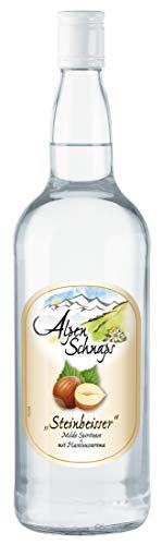 Alpenschnaps | Steinbeisser | 1 x 1l | Haselnuss | pures Alpenglück im Glas