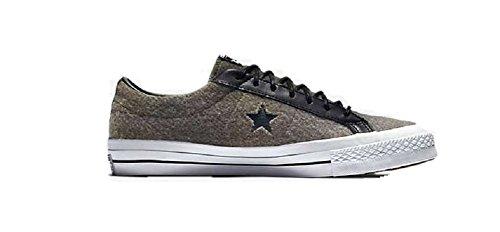 Converse Unisex One Star Woolrich Ox JuteHerbBlack 154036C 5 MenWomen 7