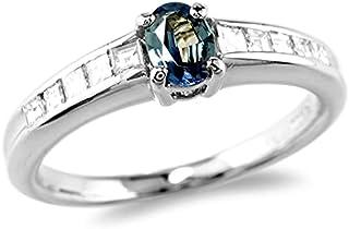 【鑑別付】Pt900 天然 アレキサンドライト 0.23ct ダイヤモンド 0.23ct 6-14号 プラチナ ブラジル産アレキ アレキ カラーチェンジ 宝石 ダイア ダイヤリング リング 指輪 レディース
