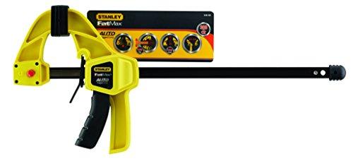Stanley FatMax Einhandzwinge (selbstspannend, 570 mm Länge, 110 mm Ausladung, 300 mm Spannweite, 560 mm Spreizweite) 9-83-124