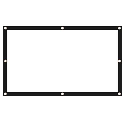 Katigan Cortina Suave del Proyector Proyector SintéTico de Fibra Blanca de Alta Gama de 100 Pulgadas / 4: 3 Pantalla Dedicada