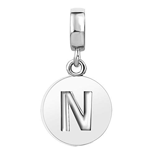 JMQJewelry Letters N Charm Initials Alphabet Charms for Bracelets Mothers Grandmas Gift