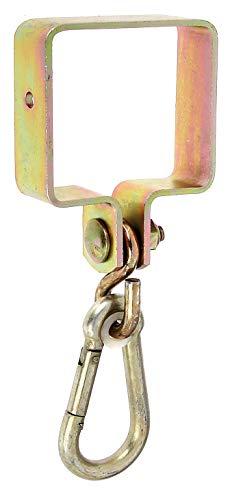 GAH-Alberts 217518 Schaukelschelle | für Vierkantholz | galvanisch gelb verzinkt | 90 x 90 mm