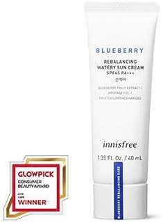 [innisfree] Blueberry Rebalancing Watery Sun Cream(40ml×2ea, 2019 new)