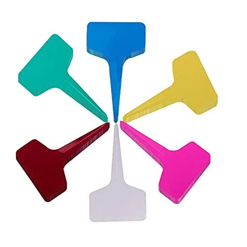 120 Pezzi Marcatori di Piante in Plastica, Impermeabile Marcatori di Piante in Plastica, Riutilizzabili Semi Label Vegetali Markers, Etichette per Semi da Giardino 6 x 10 cm (Multicolore)
