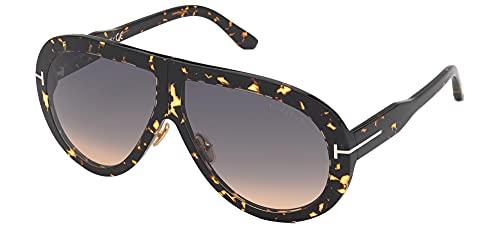 Tom Ford Gafas de Sol TROY FT 0836 Dark Havana/Smoke Shaded 61/10/140 unisex