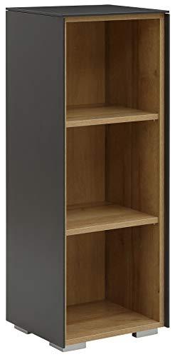MAJA Möbel YOLO Aktenregal, Holzwerkstoff, Anthrazit - Riviera Eiche, 43,1 x 110,2 x 37,2 cm