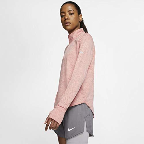 Nike W NK Sphr Elmnt Top Hz Sweatshirt, Damen, Pink Quartz/Echo Pink/Reflective Silv, XS