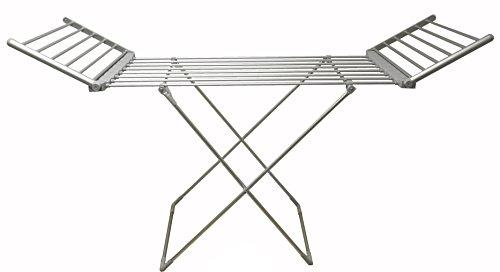 Sirge - Scaldotto - Tendedero eléctrico tamaño Maxi para Colgar y secar la Ropa, alas desplegables, 90 cm de Altura, 260 W, 15 Metros de tendido, Plegable, 20 Barras con calefacción