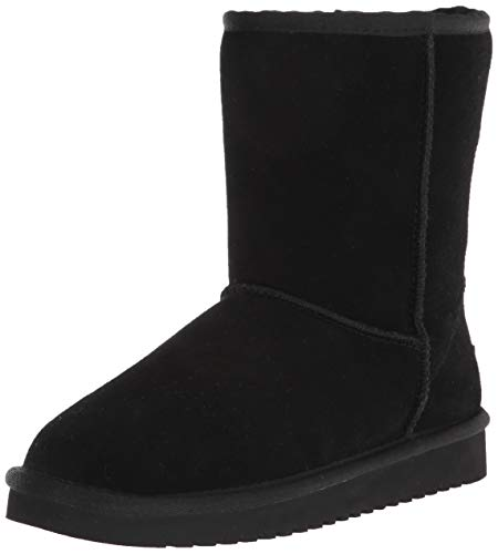 Koolaburra by UGG Women's Koola Short Mid Calf Boot, BLACK, 7 Wide