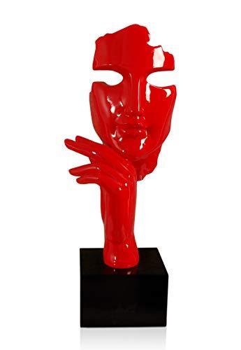 Arte Dal Mondo Viso Astratto Donna Harz Skulptur, Marmor, Rot
