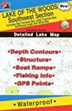 Lake of the Woods Fishing Map: Southwest. (Canadian Fishing Map Series, Q273)