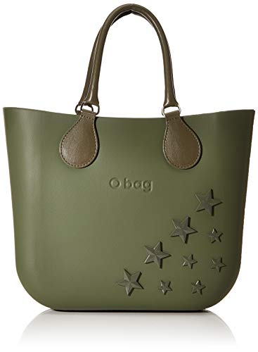 OBAG O bag Borsa Mini, Pochette da Giorno Donna, Verde (Military), 34x12x28 cm (W x H x L)