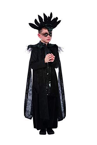Smiffys Deluxe Raven Prince Costume Disfraz de Príncipe Cuervo, color negro, S-4-6 Years (64013S)