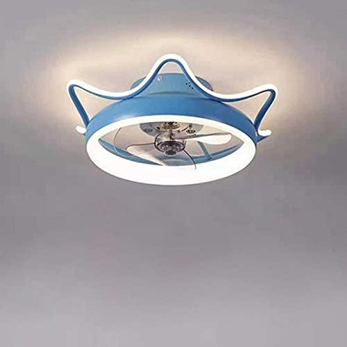MYJOYSUE Ventilador de Techo con iluminación Luz, Lampara LED Techo Ajustable Velocidad del Viento Regulable con Control Remoto 40W Luz de Techo LED Moderna para Dormitorio Sala de Estar Comedor 50cm