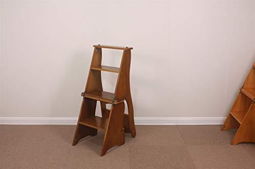 FZWAI Vintage Planken Stap Kruk Folding Ladder Stoel Seat - Multi Functional