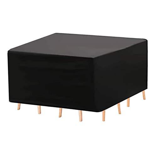 ASPZQ Cubierta Muebles de Ratán Jardín Resistente Al Desgarro Al Aire Libre Patio Cover Set Durable Protección Impermeable para Sofá Y Sillas (Color : Negro, Size : 150X80X80cm)