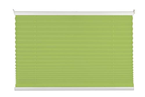 mydeco Pink, Blau, Grün Plissee Klemmfix Rollo ohne bohren | Grün 50x130 cm Blickdicht Jalousie Sonnenschutzrollo - Fenster / Türen inkl. Klemmträger