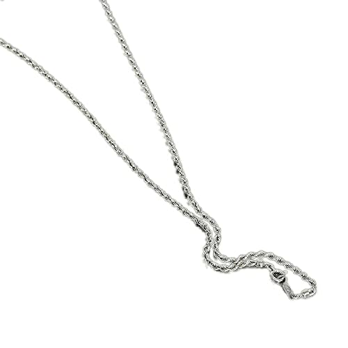 [ルビイ] ホワイトゴールド K18 パイプロープ チェーン ネックレス 幅2.2mm 長さ60cm