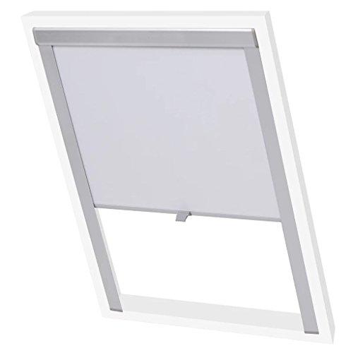 vidaXL Store Enrouleur occultant Blanc S06/606/SK06 Rideau Rouleau pour fenêtre de Toit
