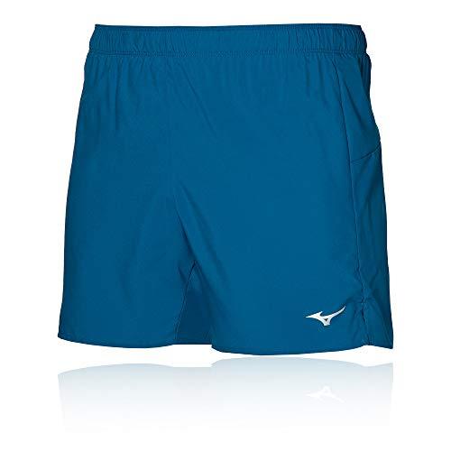 Mizuno Core 5.5 Pantalones Cortos, Azul Mykonos, M para Hombre