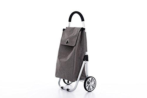 Moderner Luxus Einkaufswagen Einkaufsroller Einkaufstrolley Einkaufstasche Shopper (Hellgrau)