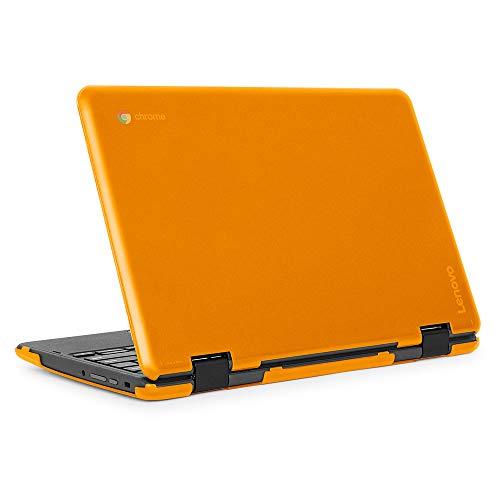 mCover Carcasa rígida para ordenador portátil Lenovo 300E (2ª generación) 2 en 1 Chromebook (no compatible con Lenovo 300E Windows y N21, N22, N23, 100E y 500E, color naranja