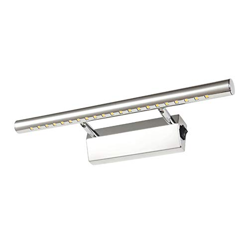LED badkamer spiegelkast verlichting speelparaties met aan/uit-schakelaar, roestvrij staal afbeeldingen wandlamp spiegellamp afbeelding voorkant lamp
