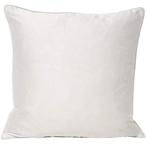 Riva Home Fiji - Funda de cojín de seda sintética, poliéster, Blanco, 43x 43cm