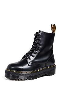 Dr Martens Jadon 8-Eye Leather Platform Boot for Men and Women Black Polished Smooth 8 US Men/9 US Women