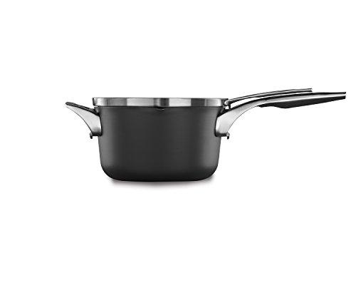 Calphalon Premier Space Saving Nonstick 3.5qt Pour & Strain Sauce Pan