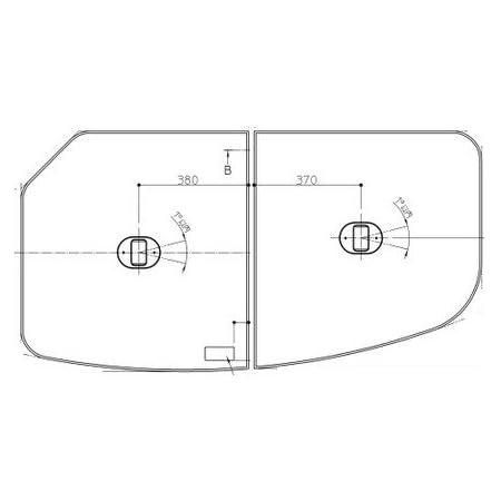 [AFKK81109WR2]TOTO 風呂フタ ST断熱2枚組フタ(把手付) Rタイプ