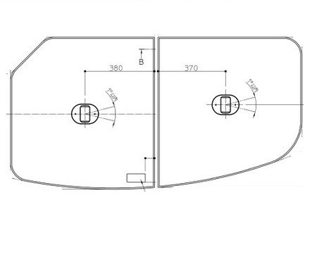 ST断熱2枚風呂フタR(把手付) AFKK81109WR2