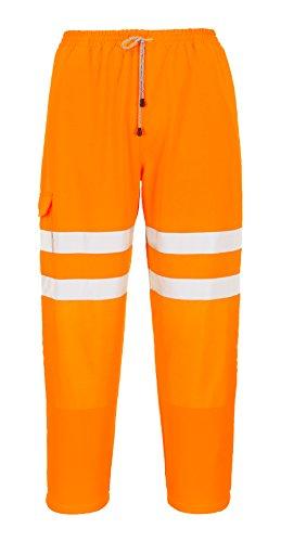 PORTWEST RT48ORRL Warnschutz Trainingshose, Orange, L