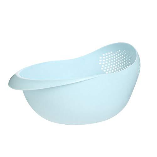 ukoudadao9haowanh Reiswascher, Reissieb Haushalt Küche Kunststoff Verdickung Abfluss Waschen Obst Korb, Klettern, blau