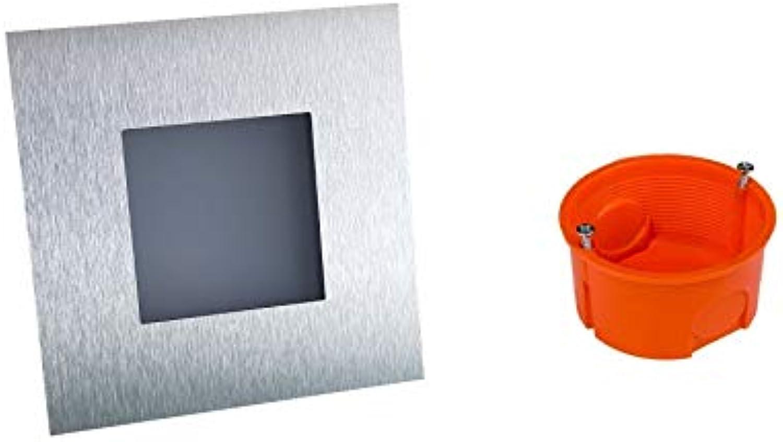 Simple LED Wand & Treppenbeleuchtung Treppenlicht 2W 230V (4, Warm 21 WS W ED 230V+Einbaudose)