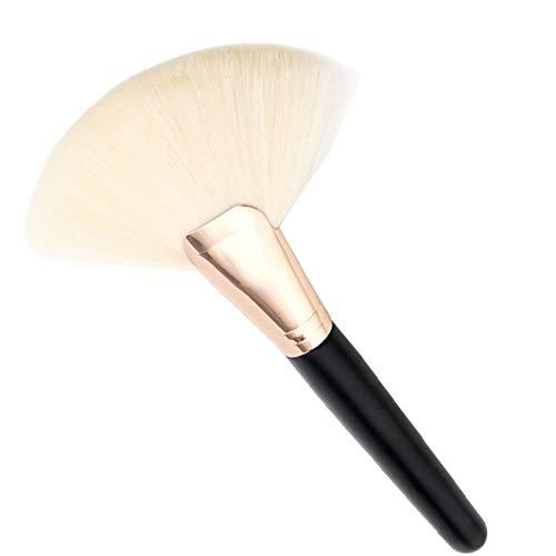 1pc maquillage pinceau cosmétique fibre de nylon grand ventilateur accessoires en forme de brosse cosmétiques (blanc)