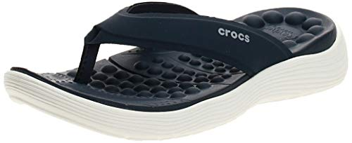 Crocs Damen Reviva Flip W Zehentrenner, Blau (Navy/White), 41/42 EU