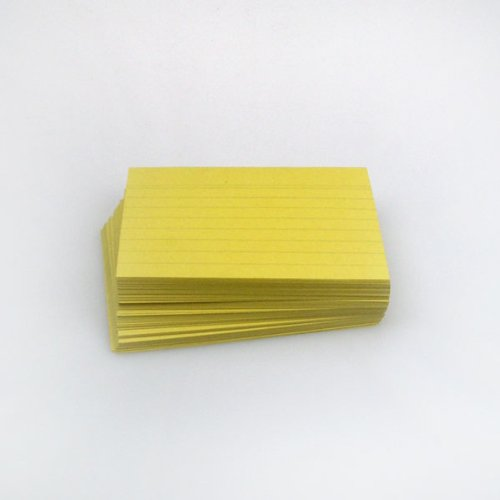 Office Line Karteikarten, 500 Stück, gelb, 190 g, DIN A7, liniert, Art.Nr.: 770286