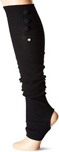 Toesox RAE Open Heel Leg Warmer Yoga, Pilates & Casual Calentador de piernas, Unisex Adulto, Negro, Talla única