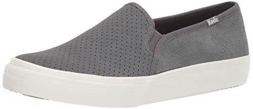 Keds Women's Double Decker PERF Suede Sneaker, Gray, 7 M US
